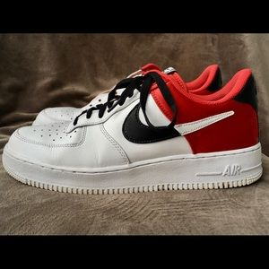 """Nike x NBA Air Force 1 Low """"Chicago"""" Red"""